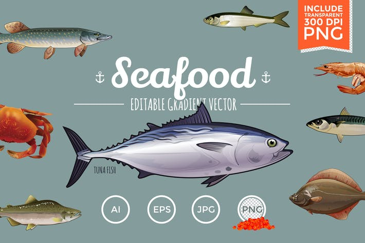 Thumbnail for Seafood Vector Pack