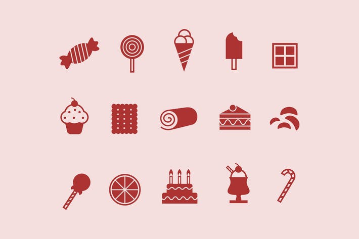 Thumbnail for 12 Sweet and Confectionary Icons
