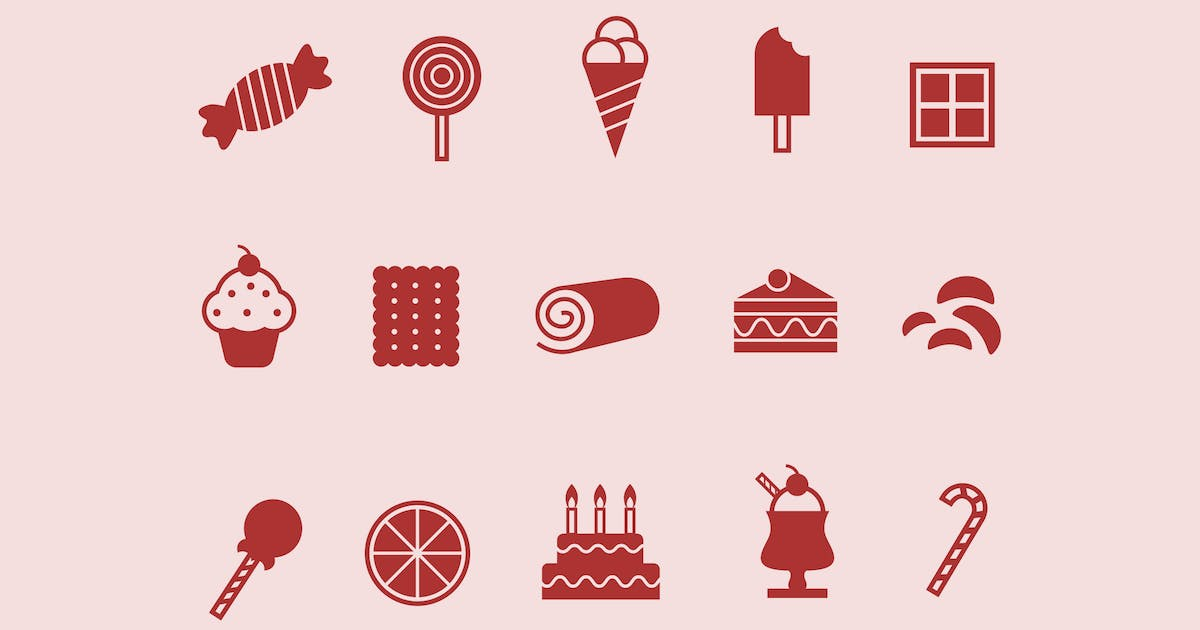 Download 12 Sweet and Confectionary Icons by creativevip