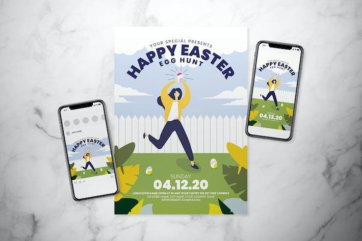 Thumbnail for Ensemble de dépliant Happy Easter
