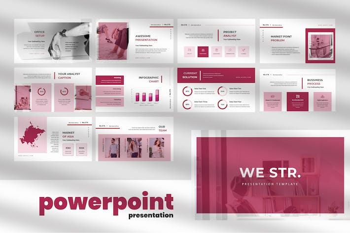 We STR - Business Powerpoint Presentation