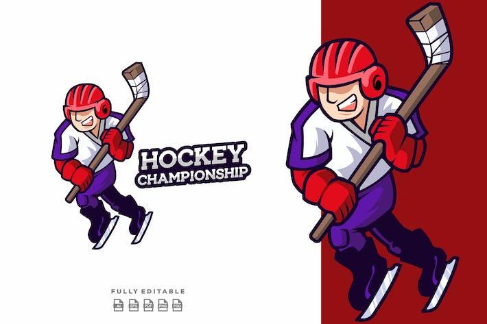Hockey Championship Mascot Logo