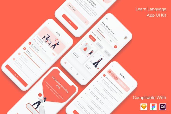 Thumbnail for Lernen Sprache App UI Kit