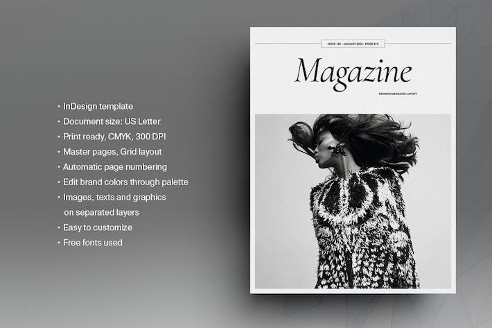 Thumbnail for Black and White Fashion Magazine