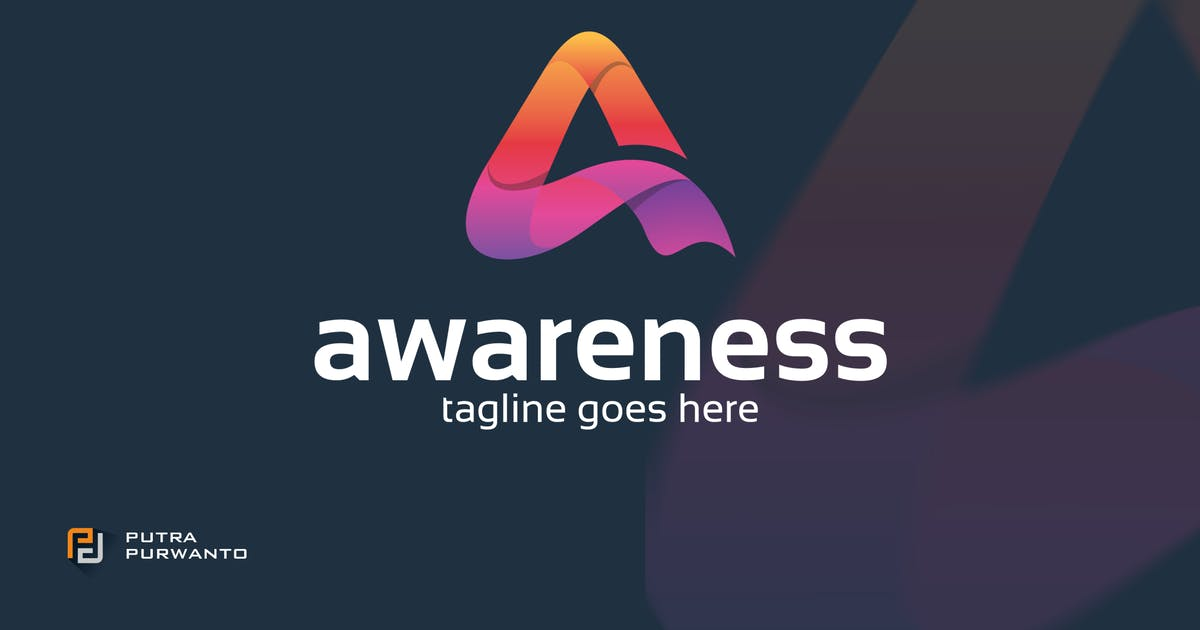 Awareness / Letter A - Logo Template by putra_purwanto