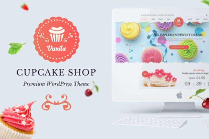 Cover Image For Bakery - Vanila Cakery & Bakery HTML5 Template