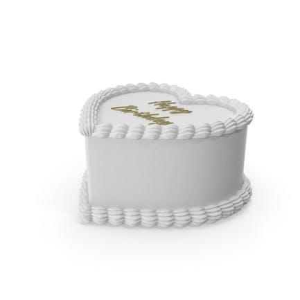 Heart Shape White Birthday Cake