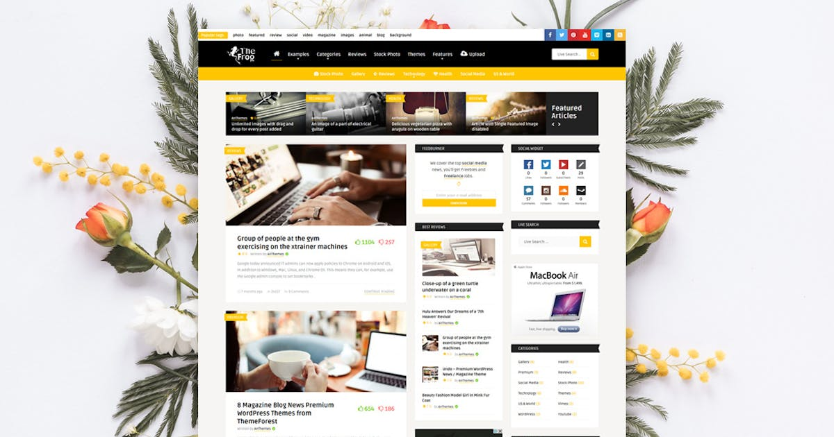 Download The Frog - Creative News / Blog Magazine Theme by An-Themes