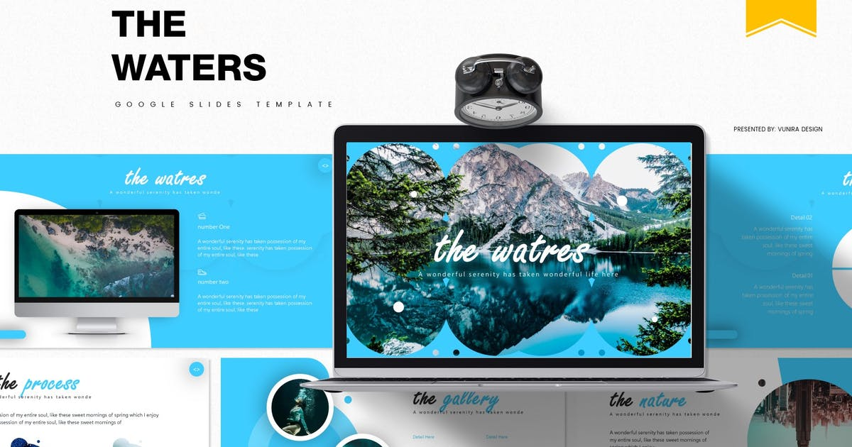 Download The Waters | Google Slides Template by Vunira