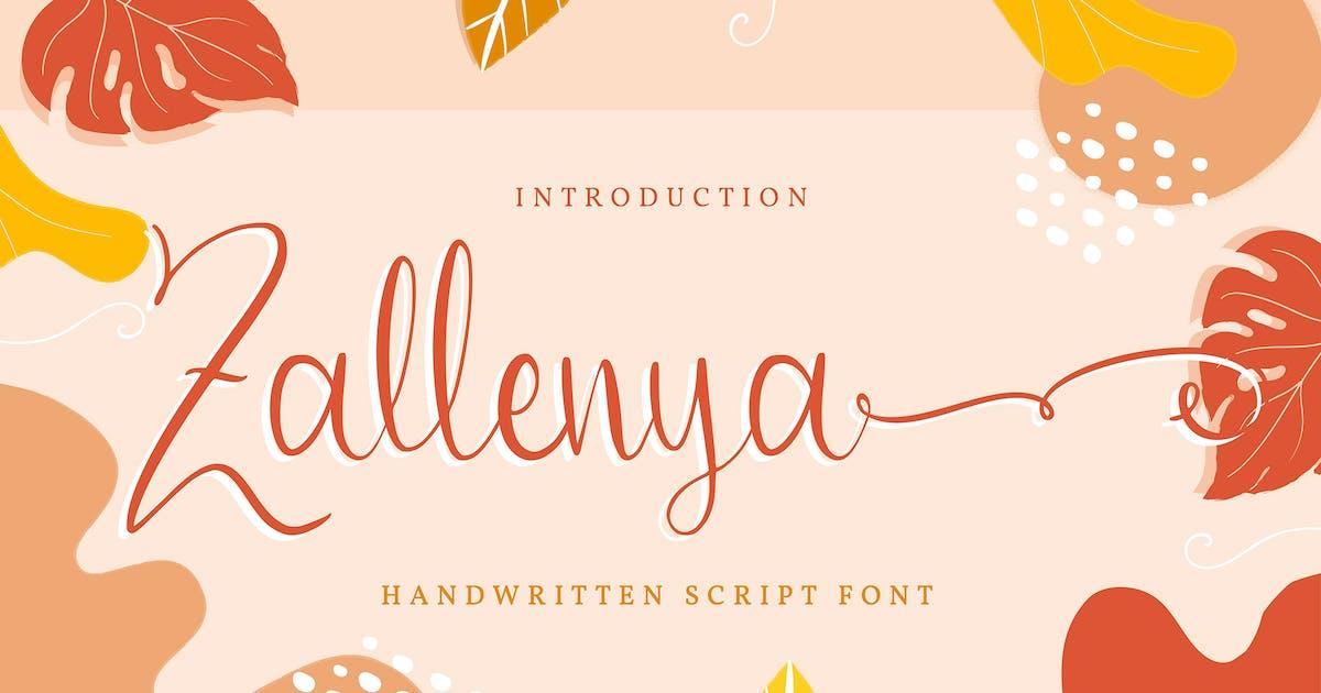 Download Zallenya   Handwritten Script Font by Vunira