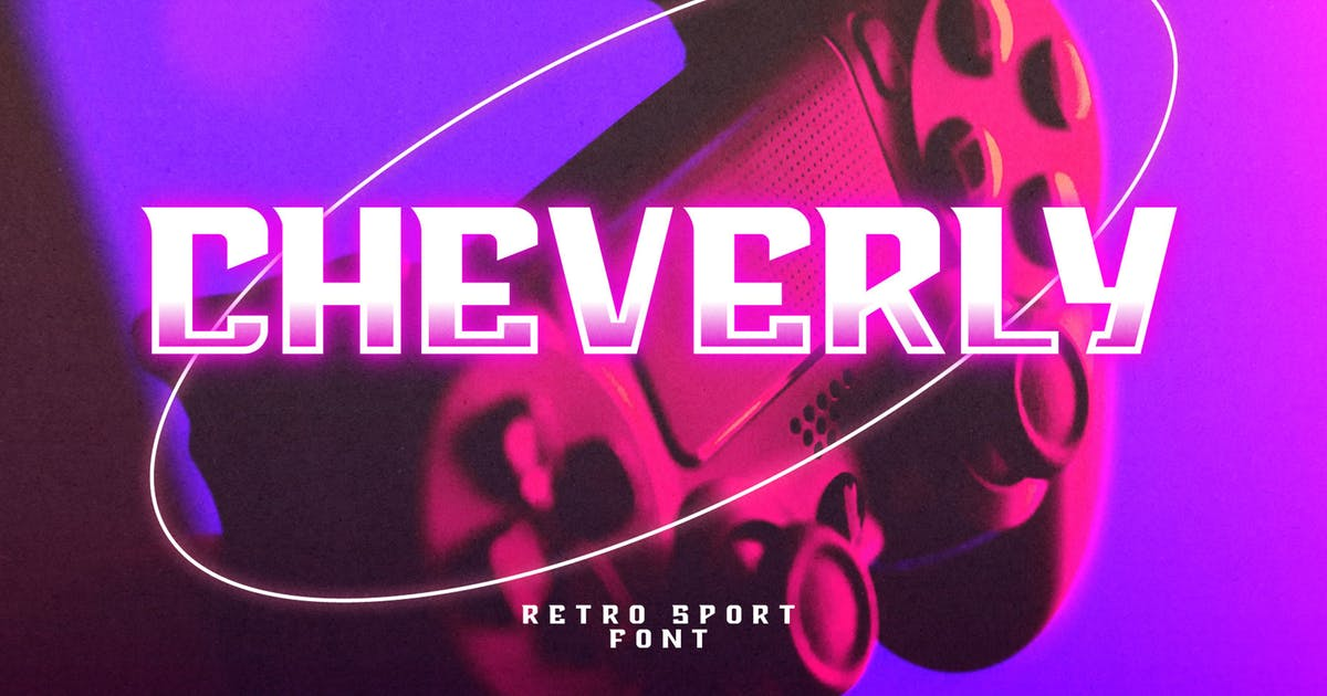 Download Cheverly - Sport Retro Font by axelartstudio