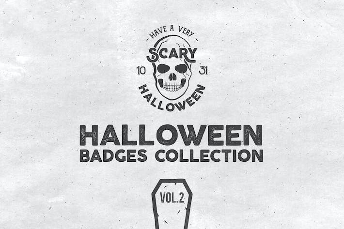 Cover Image For Halloween Badges Set. Vol.2