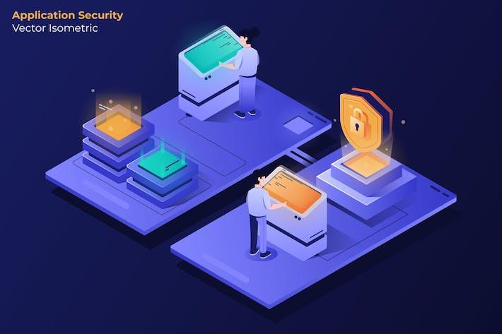 Thumbnail for Sécurité des applications - Illustration Vecteur