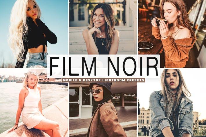 Thumbnail for Film Noir Mobile & Desktop Lightroom Presets
