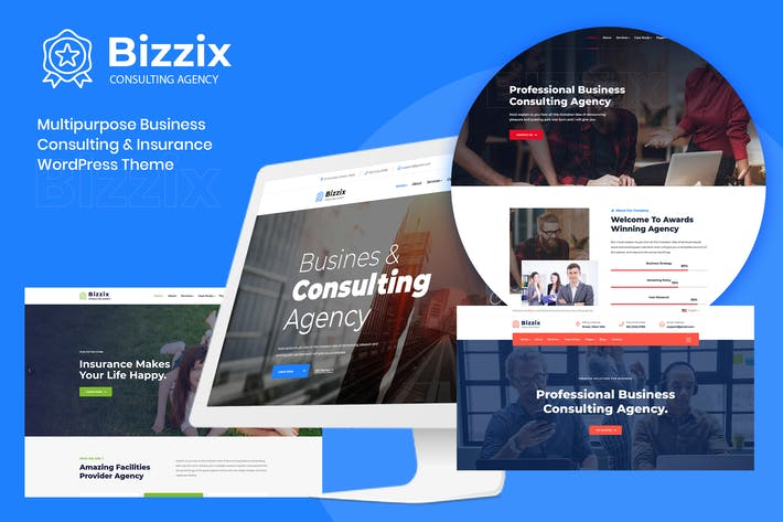 Thumbnail for Bizzix - Multipurpose Business Elementor WordPress