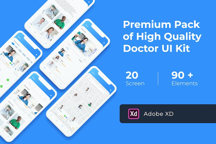 Thumbnail for Doctor App UI KIT for XD