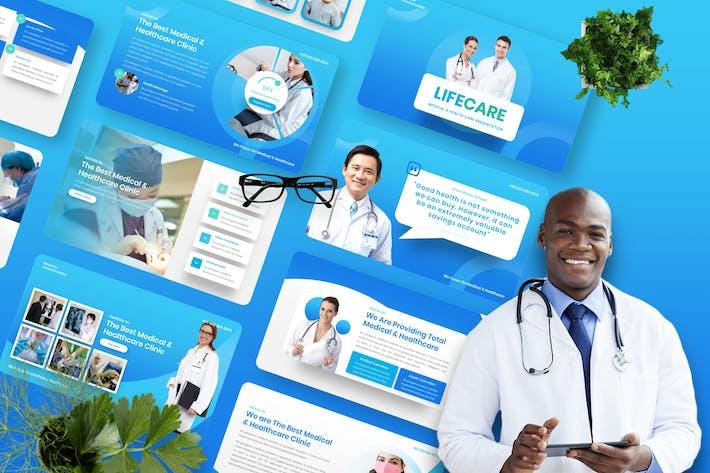 Lifecare - Шаблон Googleslide для медицины и здравоохранения