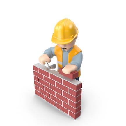 Worker with Bricks