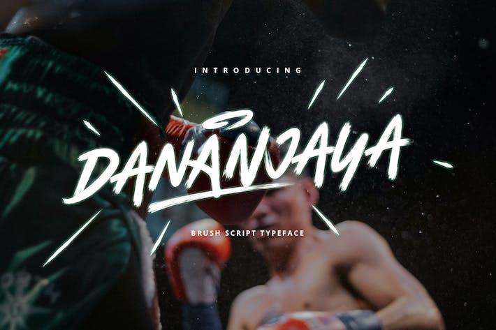 Thumbnail for Dananjaya - Caractères de caractères avec script pinceau