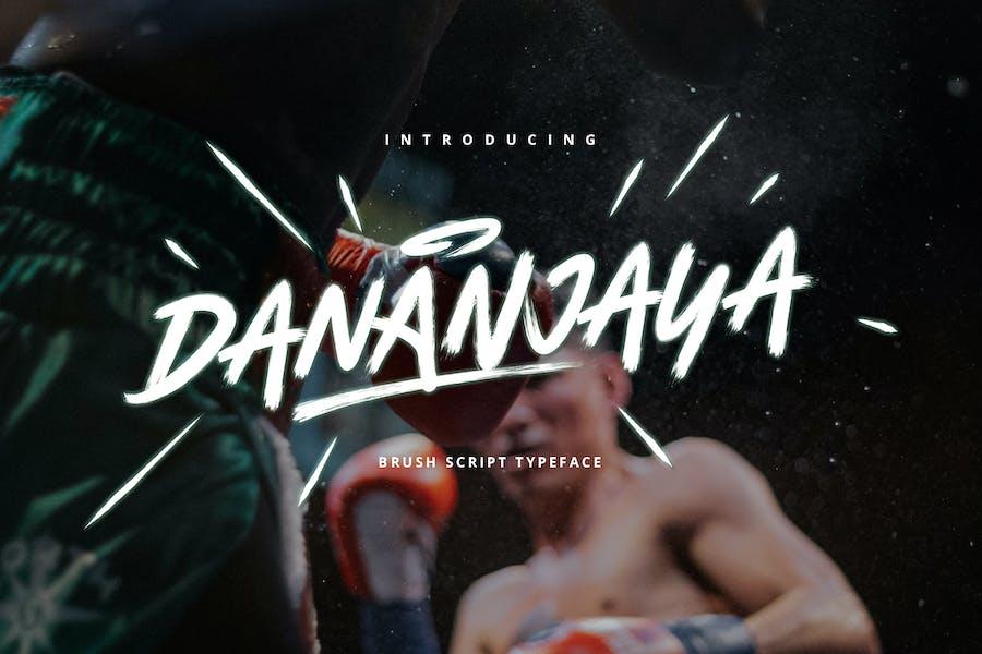 Dananjaya - Brush Script Typeface