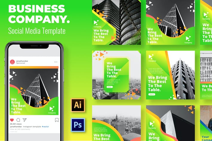 Thumbnail for Green Business Social Media Template