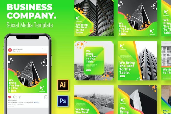 Thumbnail for Grüne Business-Vorlage für soziale Medien