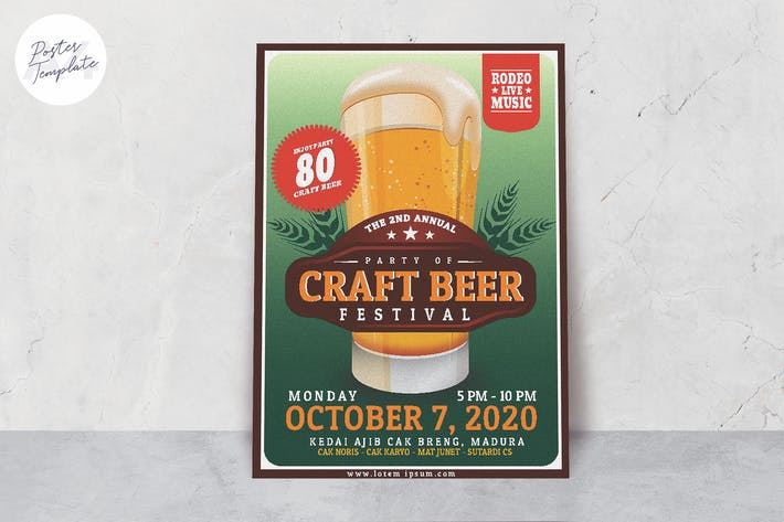 Cover Image For October Fest Poster Template