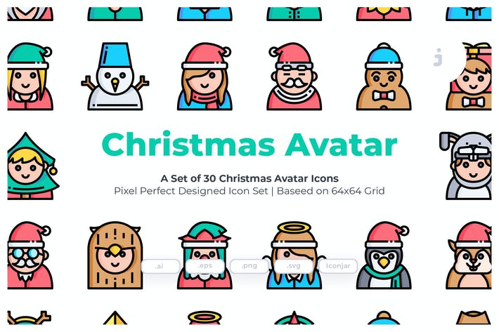 Thumbnail for 30 Christmas Avatar Icons