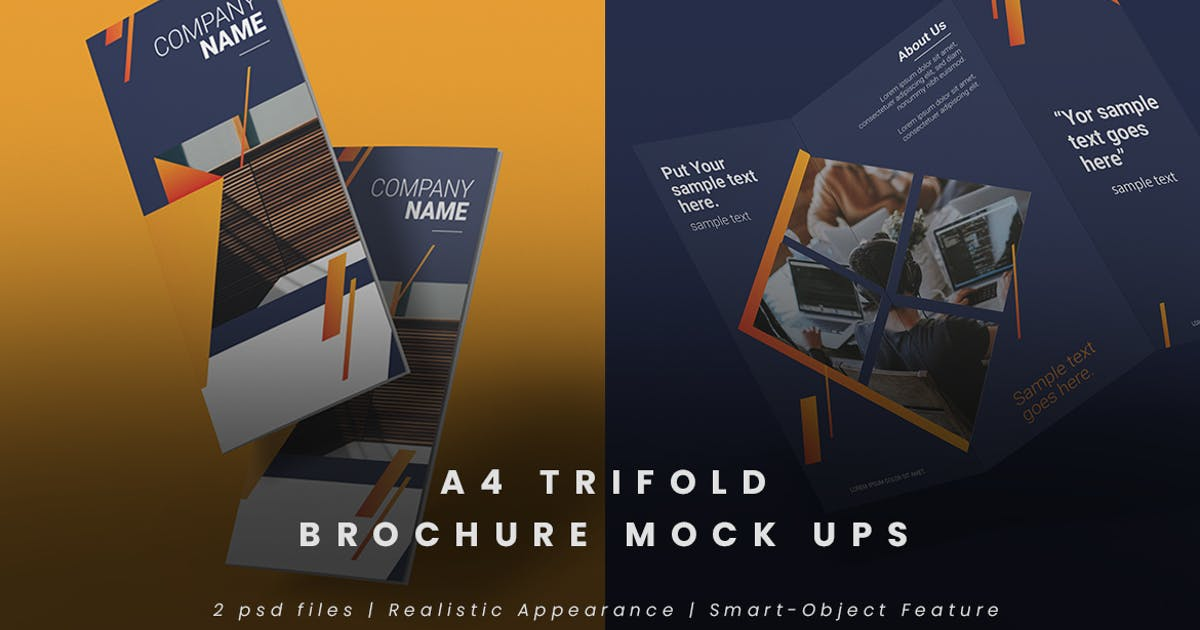 Download Realistic Trifold Brochure Mock-Ups by thirtypath