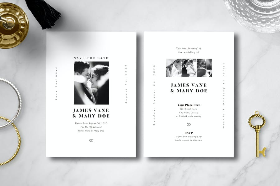 Simple Wedding Invitation 08