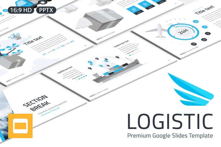 Thumbnail for Logistic Google Slides Template