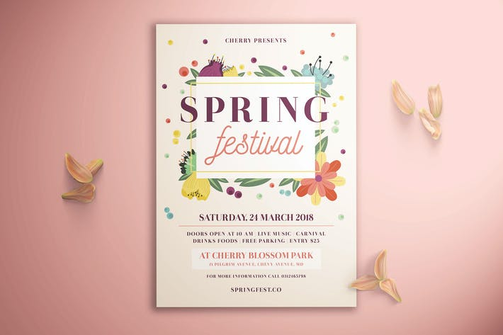Cover Image For Spring Festival Flyer
