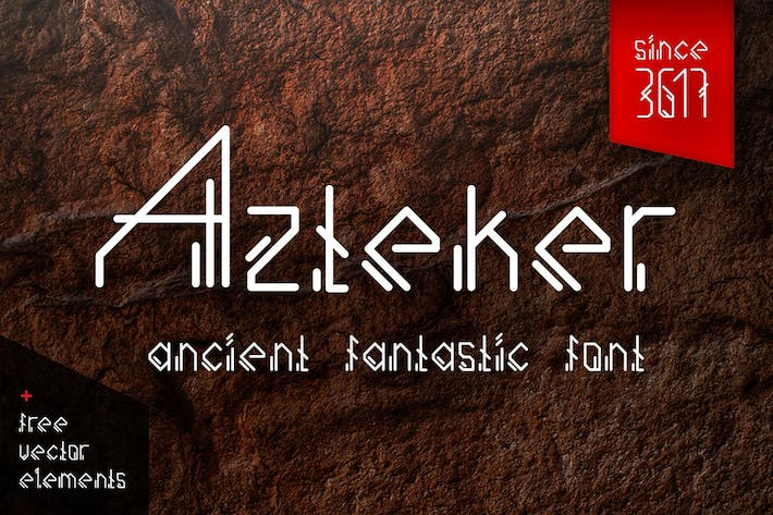 Thumbnail for Azteker - ancient fantastic font