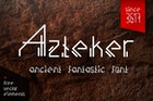 Azteker - ancient fantastic font