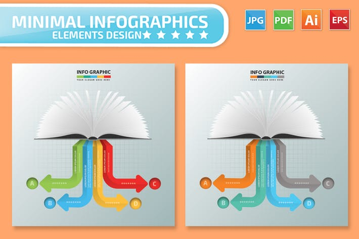 Thumbnail for Book Infographics Design