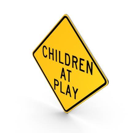Señal de niños en juego