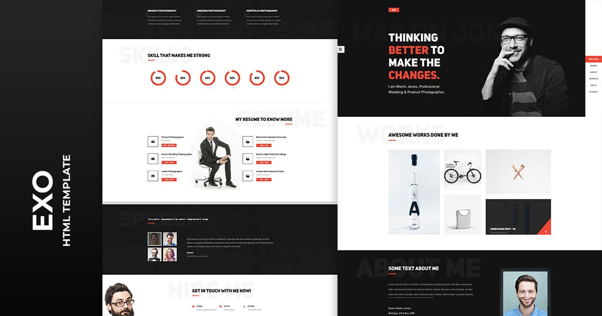 Download EXO - Personal Portfolio Template by htmlbeans