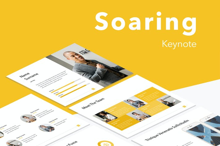 Thumbnail for Soaring Keynote Template