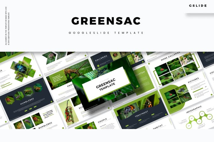Cover Image For Greensac - Google Slides Template