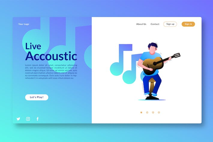Thumbnail for Live Accoustic - Landing Page GR