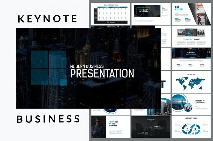 Thumbnail for Business Presentation 100+ Keynote Template