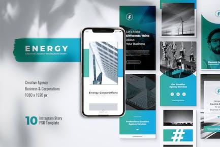 Histoires Instagram de la centrale électrique ENERGY