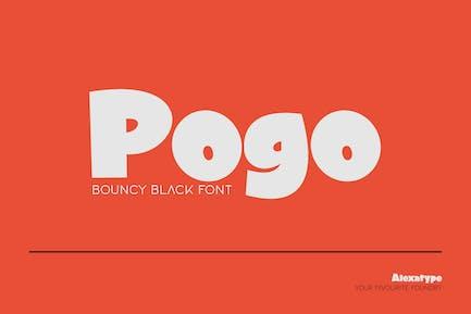 Pogo - Bouncy Black font