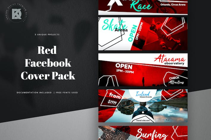 Thumbnail for Facebook Red Cover Pack