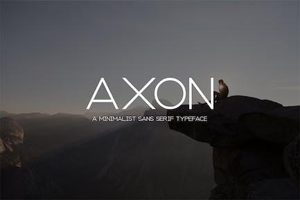 Axon | Familia minimalista Sans Con serifa