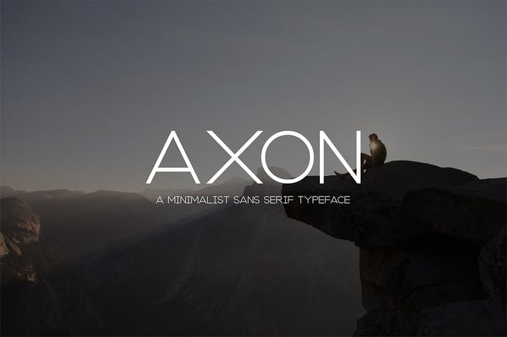 Cover Image For Axon | Minimalist Sans Serif Family