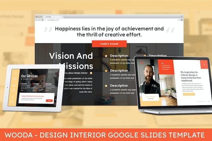 Thumbnail for Wooda - Design Interior Google Slides Template