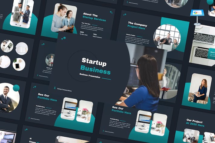 Thumbnail for Startup - Business Keynote Template