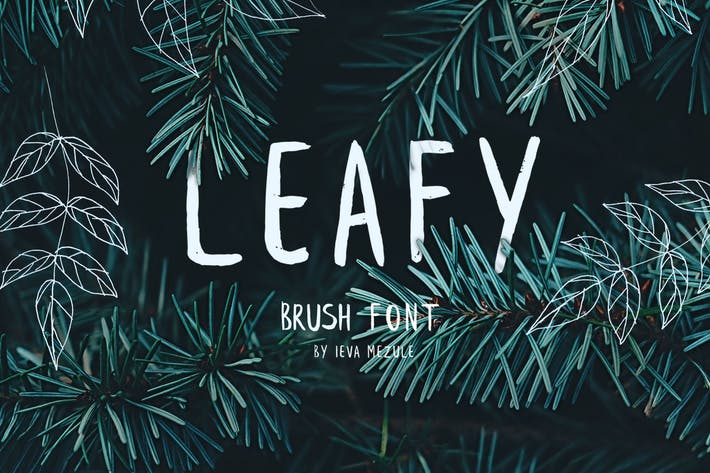 Thumbnail for Leafy Brush Font