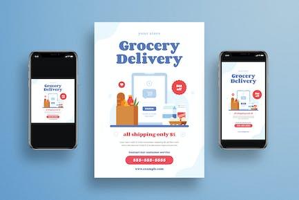LebensmittellieferungsFlyer + Social Media